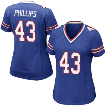 Women's Nike Buffalo Bills Del'Shawn Phillips Royal Blue Team Color Jersey - Game