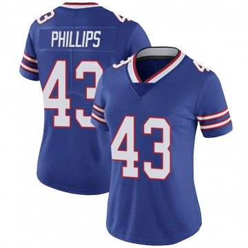 Women's Nike Buffalo Bills Del'Shawn Phillips Royal Team Color Vapor Untouchable Jersey - Limited