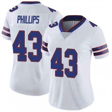 Women's Nike Buffalo Bills Del'Shawn Phillips White Color Rush Vapor Untouchable Jersey - Limited