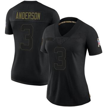 Women's Nike Buffalo Bills Derek Anderson Black 2020 Salute To Service Jersey - Limited