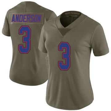 Women's Nike Buffalo Bills Derek Anderson Green 2017 Salute to Service Jersey - Limited