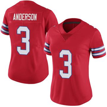 Women's Nike Buffalo Bills Derek Anderson Red Color Rush Vapor Untouchable Jersey - Limited