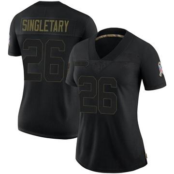Women's Nike Buffalo Bills Devin Singletary Black 2020 Salute To Service Jersey - Limited
