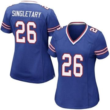 Women's Nike Buffalo Bills Devin Singletary Royal Blue Team Color Jersey - Game