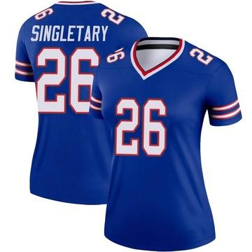 Women's Nike Buffalo Bills Devin Singletary Royal Jersey - Legend
