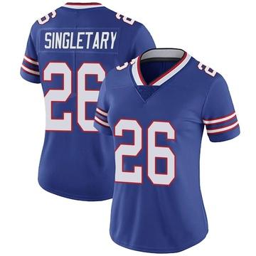 Women's Nike Buffalo Bills Devin Singletary Royal Team Color Vapor Untouchable Jersey - Limited