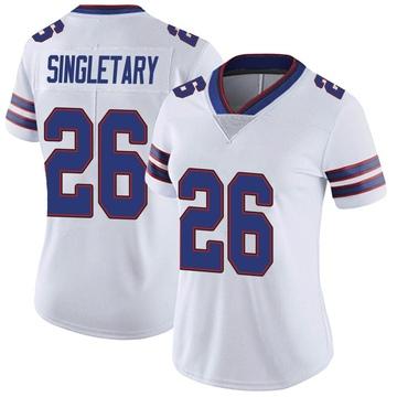 Women's Nike Buffalo Bills Devin Singletary White Color Rush Vapor Untouchable Jersey - Limited