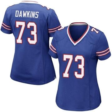 Women's Nike Buffalo Bills Dion Dawkins Royal Blue Team Color Jersey - Game