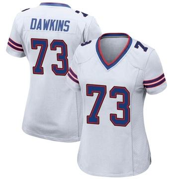 Women's Nike Buffalo Bills Dion Dawkins White Jersey - Game