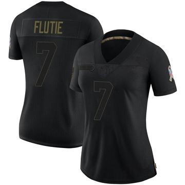 Women's Nike Buffalo Bills Doug Flutie Black 2020 Salute To Service Jersey - Limited