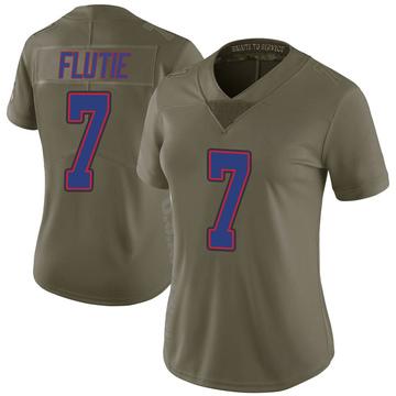 Women's Nike Buffalo Bills Doug Flutie Green 2017 Salute to Service Jersey - Limited