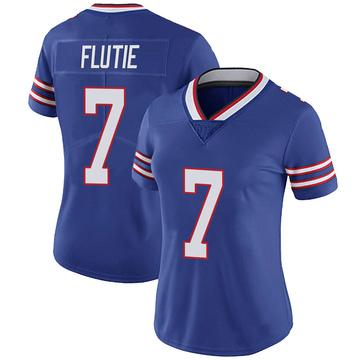 Women's Nike Buffalo Bills Doug Flutie Royal 100th Vapor Jersey - Limited