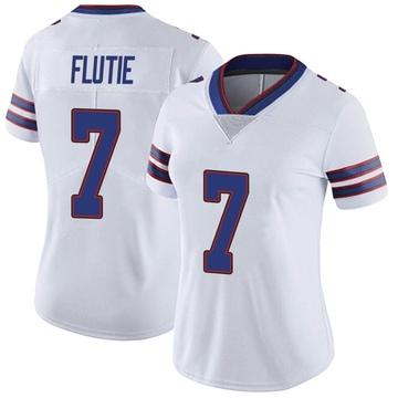 Women's Nike Buffalo Bills Doug Flutie White Color Rush Vapor Untouchable Jersey - Limited