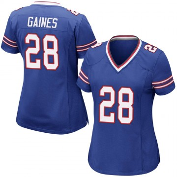 Women's Nike Buffalo Bills E.J. Gaines Royal Blue Team Color Jersey - Game