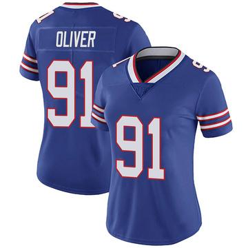 Women's Nike Buffalo Bills Ed Oliver Olive Royal 100th Vapor Jersey - Limited