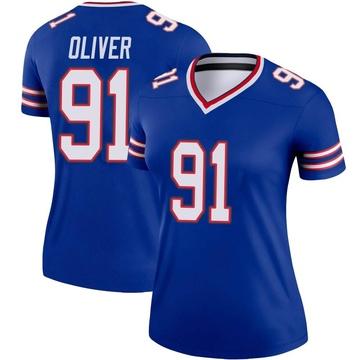 Women's Nike Buffalo Bills Ed Oliver Olive Royal Jersey - Legend