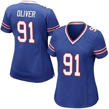 Women's Nike Buffalo Bills Ed Oliver Royal Blue Team Color Jersey - Game