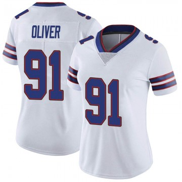 Women's Nike Buffalo Bills Ed Oliver White Color Rush Vapor Untouchable Jersey - Limited