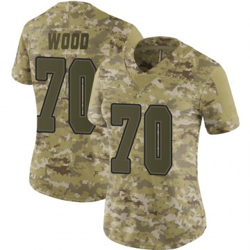 Women's Nike Buffalo Bills Eric Wood Camo 2018 Salute to Service Jersey - Limited