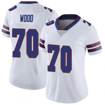 Women's Nike Buffalo Bills Eric Wood White Color Rush Vapor Untouchable Jersey - Limited
