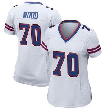 Women's Nike Buffalo Bills Eric Wood White Jersey - Game