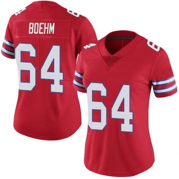 Women's Nike Buffalo Bills Evan Boehm Red Color Rush Vapor Untouchable Jersey - Limited