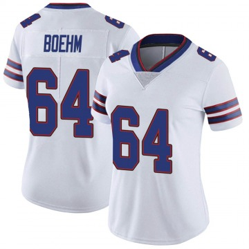 Women's Nike Buffalo Bills Evan Boehm White Color Rush Vapor Untouchable Jersey - Limited