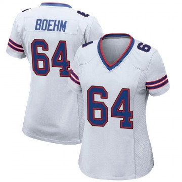 Women's Nike Buffalo Bills Evan Boehm White Jersey - Game