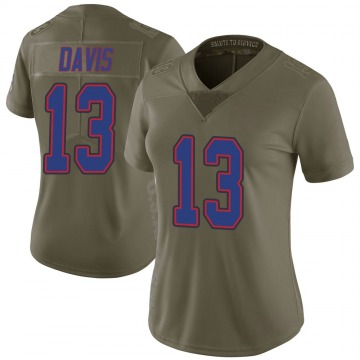 Women's Nike Buffalo Bills Gabriel Davis Green 2017 Salute to Service Jersey - Limited