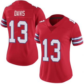 Women's Nike Buffalo Bills Gabriel Davis Red Color Rush Vapor Untouchable Jersey - Limited