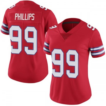 Women's Nike Buffalo Bills Harrison Phillips Red Color Rush Vapor Untouchable Jersey - Limited