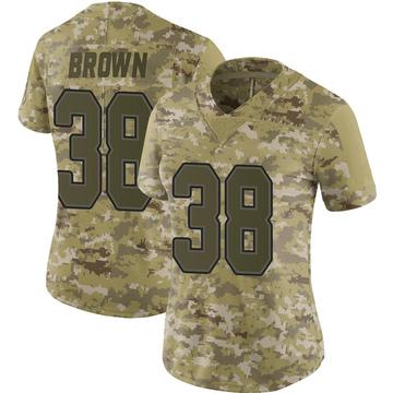 Women's Nike Buffalo Bills Isaiah Brown Brown Camo 2018 Salute to Service Jersey - Limited