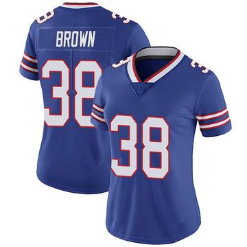 Women's Nike Buffalo Bills Isaiah Brown Brown Royal 100th Vapor Jersey - Limited