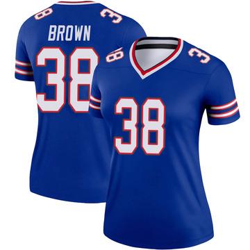 Women's Nike Buffalo Bills Isaiah Brown Brown Royal Jersey - Legend