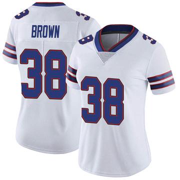 Women's Nike Buffalo Bills Isaiah Brown White Color Rush Vapor Untouchable Jersey - Limited