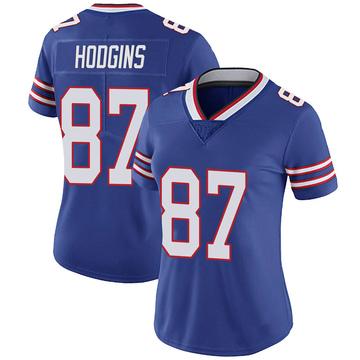 Women's Nike Buffalo Bills Isaiah Hodgins Royal 100th Vapor Jersey - Limited