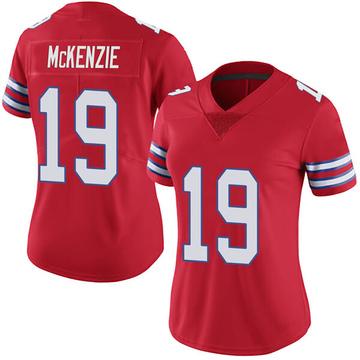 Women's Nike Buffalo Bills Isaiah McKenzie Red Color Rush Vapor Untouchable Jersey - Limited