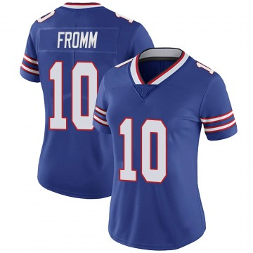 Women's Nike Buffalo Bills Jake Fromm Royal 100th Vapor Jersey - Limited