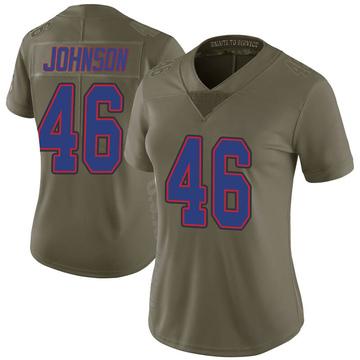 Women's Nike Buffalo Bills Jaquan Johnson Green 2017 Salute to Service Jersey - Limited