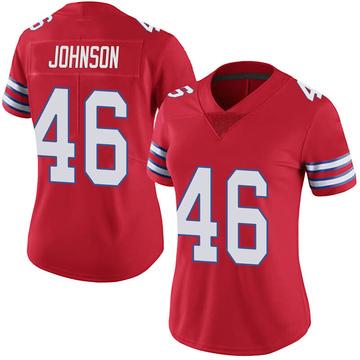 Women's Nike Buffalo Bills Jaquan Johnson Red Color Rush Vapor Untouchable Jersey - Limited