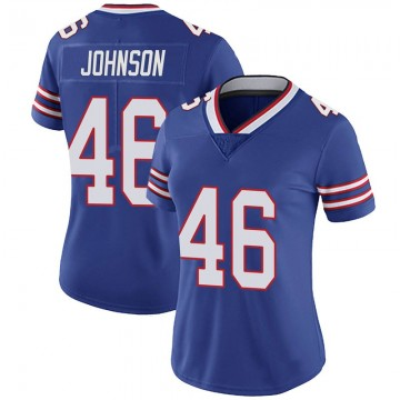 Women's Nike Buffalo Bills Jaquan Johnson Royal 100th Vapor Jersey - Limited