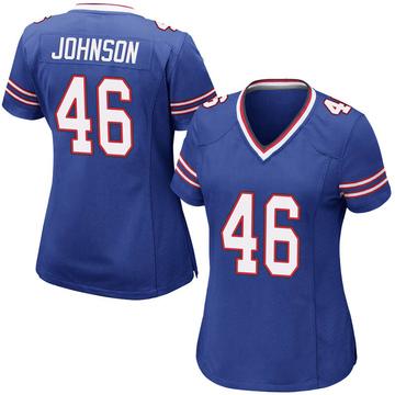 Women's Nike Buffalo Bills Jaquan Johnson Royal Blue Team Color Jersey - Game