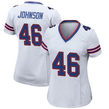 Women's Nike Buffalo Bills Jaquan Johnson White Jersey - Game