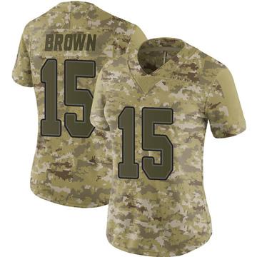 Women's Nike Buffalo Bills John Brown Brown Camo 2018 Salute to Service Jersey - Limited