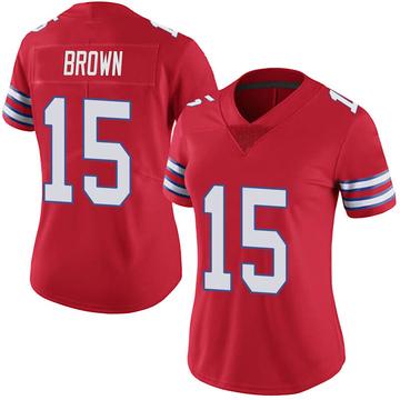 Women's Nike Buffalo Bills John Brown Red Color Rush Vapor Untouchable Jersey - Limited