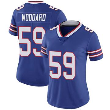 Women's Nike Buffalo Bills Jonathan Woodard Royal 100th Vapor Jersey - Limited