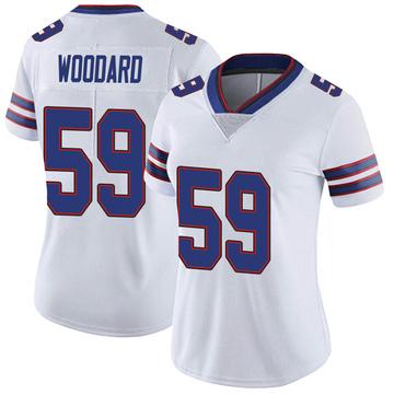 Women's Nike Buffalo Bills Jonathan Woodard White Color Rush Vapor Untouchable Jersey - Limited
