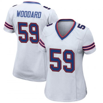 Women's Nike Buffalo Bills Jonathan Woodard White Jersey - Game