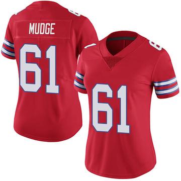 Women's Nike Buffalo Bills Jordan Mudge Red Color Rush Vapor Untouchable Jersey - Limited
