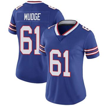 Women's Nike Buffalo Bills Jordan Mudge Royal 100th Vapor Jersey - Limited